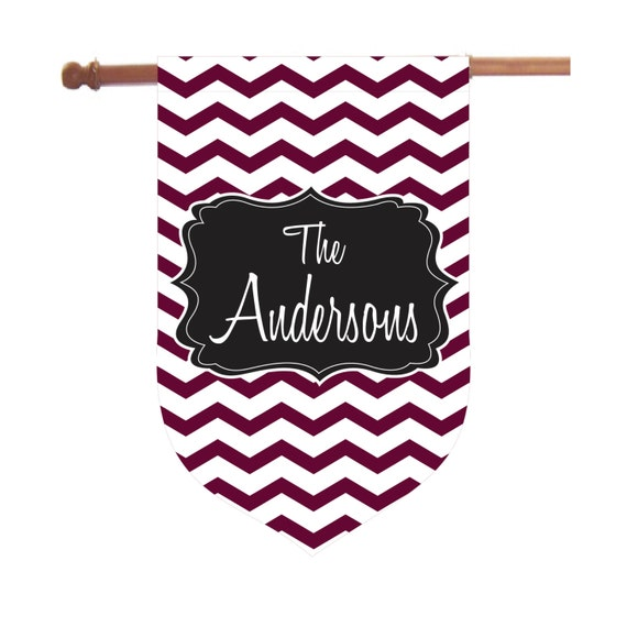 Personalized Chevron House Flag