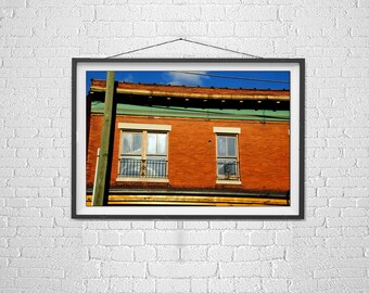 Photos of Knoxville, Knoxvilles Old City, Bright Colorful Buildings, Brick Buildings, Urban Art Architecture, Art for Decorators Designers