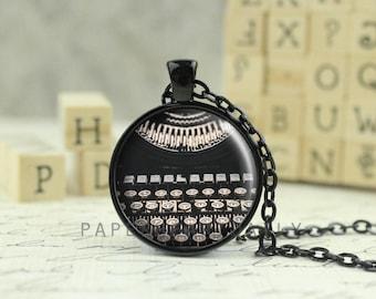 Typewriter Pendant - Typewriter Charm - Typewriter Jewelry - Typewriter Necklace - Writer Pendant - Writer Charm - Author Gift -  (B1967)