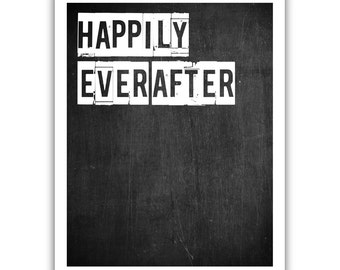 Typographic Print - TITLE Happily Ever After