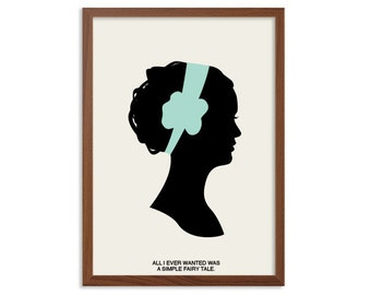 A Simple Fairy Tale Poster : Blair Waldorf Modern Illustration Gossip Girl TV