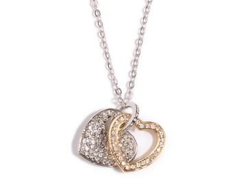 Diane Katzman Two Hearts are One Necklace