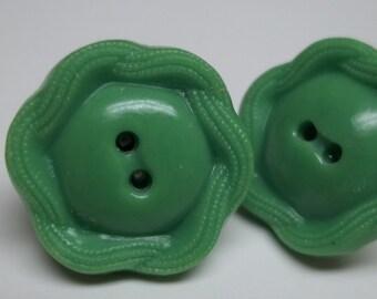 OOAK vintage green button stud earrings,eco-friendly stud earrings,green button earrings,green earrings,green stud earrings,green studs