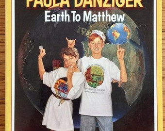 SALE Earth to Matthew by Paula Danziger 1992 VGC Dell Yearling Pb, Teen Tween Boy Adolescence Problems, Vintage 1990s Childrens Chapter Book