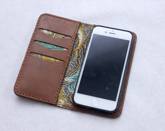 iPhone Flip Case  //  iPhone Wallet Card Holder //  Flip Case for iPhone 7 // Leather Iphone Case // Phone Wallet