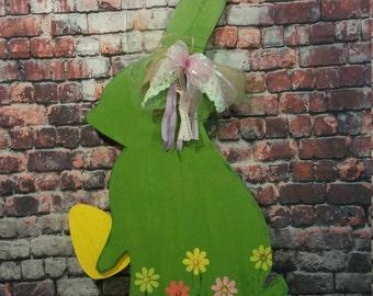 Easter Door Decoration, Easter Door Hanger, Easter Rabbit, Hand Made door hanger