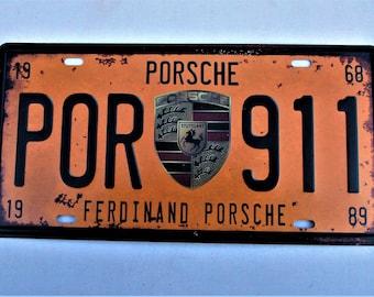 Porsche tin plate metal sign   30 x 15 cm