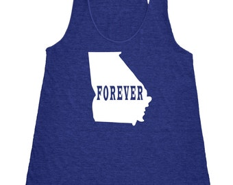 Georgia Forever Tank Top. Women's Tri Blend Racerback Tank Top SEEMBO