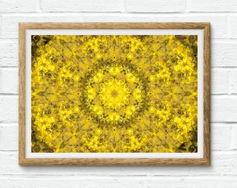 Limited Edition Mandala Print / Yoga Art / Zen Art / Spiritual art / Healing Art - You're My Light