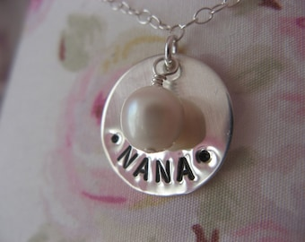 Grandmothers Stamped Necklace