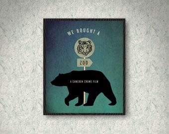 We Bought a Zoo Minimalist Poster Print, Home Decor, Print Art Poster