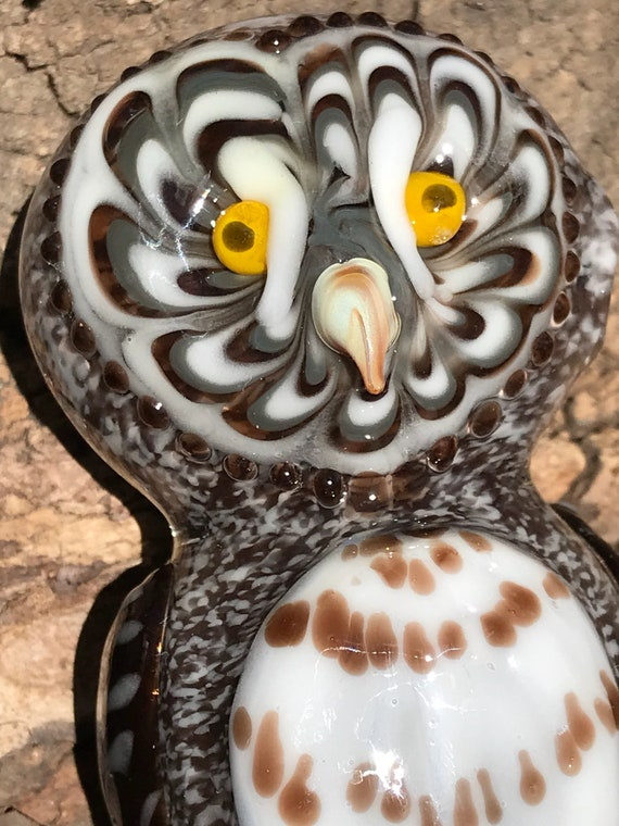 Glass Pipe Great Grey Owl!