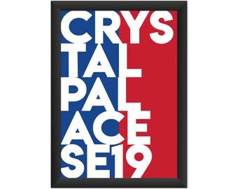 Crystal Palace Typography SE19 - Giclée Art Print - South London Poster