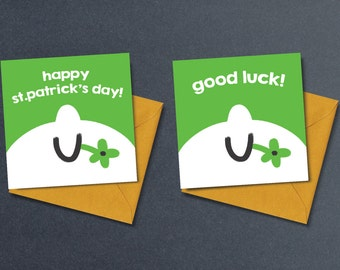 Happy St.Patrick's Day Card / Good Luck Card