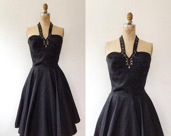 1950s halter dress / 1950s party dress / Bombshell dress