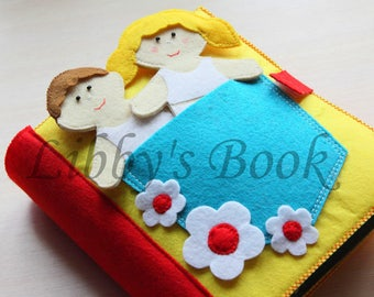 Ready for shipment 12 Pages! Handmade Activity Quiet Book , Busy Book, Book for Toddler, Sensory toy