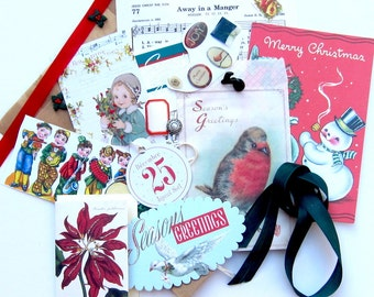 Christmas Grab Bag for DIY Card Making, Tags, Collages, Scrapbooking, Mixed Media, Paper Arts and MORE PSS 2697