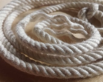 """5/32"""" Twisted 4 Strand Cotton Rope. Made in USA. Southern Cotton"""
