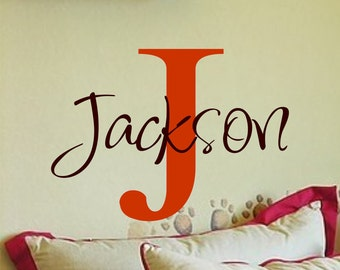 Name Decal - Childrens Wall Decals - Personalized Name Vinyl Wall Decal - Nursery Wall Decals