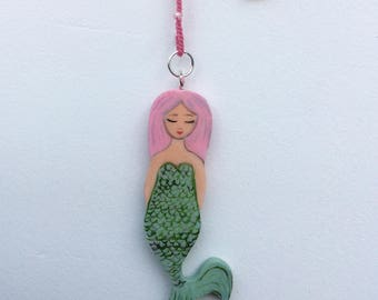 Mermaid on Crochet chain Pink, Zoownatas