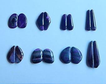 SALE,8 Pairs Sugilite Gemstone Cabochon, 6.5g(Cpa054)