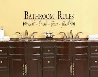 Bathroom Rules Vinyl Wall Art