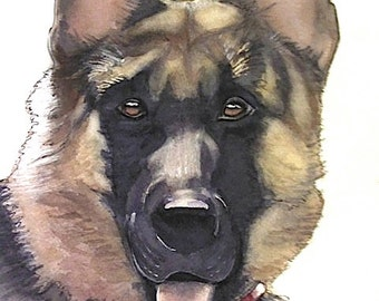 Custom Watercolor Dog Portrait From Your Photo