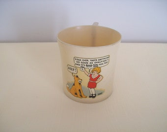 Beetleware Little Orphan Annie Plastic Cup with Handle Advertising Ovaltine