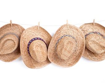 Cowboy hat , Custom hats , Straw hat , Men's sun hats , 100% natural straw.