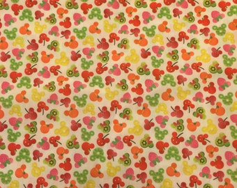 One Yard Mickey Mouse Fruit Fabric
