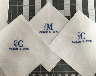 Men's Personalized Hankerchief with special date added
