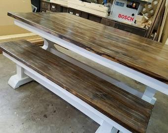 Trestle Bench For Farmhouse Table