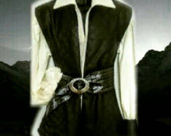 BARBARIAN VIKING WARRIOR Vest Tunic - 3PC - A Rogue and Rugged Warrior