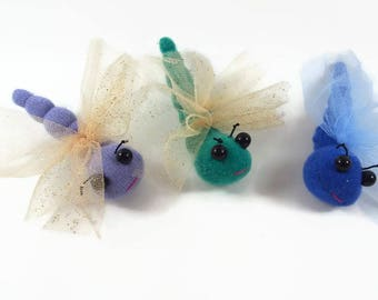 Dragonfly toy, dragonfly puppet, stuffed toy, stuffed animal, waldorf toy,