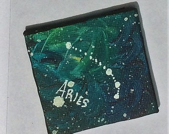 Aries Constellation Galaxy Painting Magnet