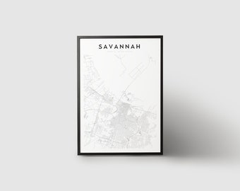 Savannah Map Print
