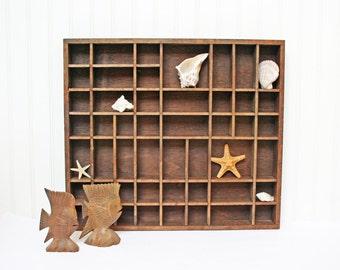 Vintage Wood Display,  Wall Display Box, Supply Tray, Jewelry Holder