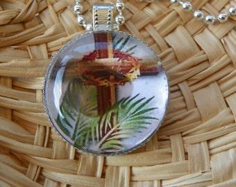 Palm Sunday Necklace Christian necklace christian pendant cross necklace cross pendant Palm Sunday necklace Palm Sunday pendant present