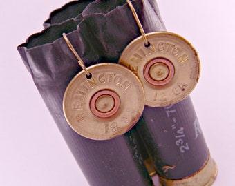 Annie Get Your Gun Remington 12 Gauge Spent Shotgun Shell Bullet  Earrings