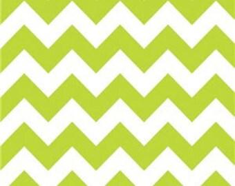 40% OFF SALE!  Chevron Medium Lime - Riley Blake