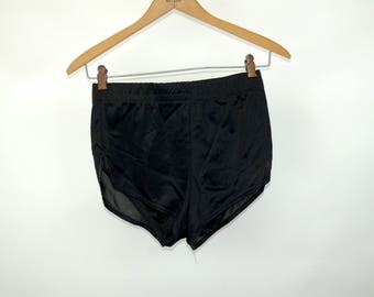 1980s men's swim trunks nylon short shorts running shorts athletic apparel Oceans II Size S