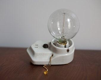 1920's Porcelain Wall Sconce  - Vintage Antique Modern Glass Light Paulding