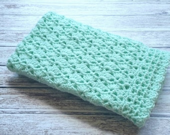 Crochet Baby Blanket Mint Green Baby Blanket Car Seat Stroller Crib Blanket Baby Girl Baby Boy blanket Homecoming Shower Gift Photo Prop