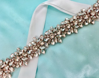 Bridal Gown Sash, Bridal Belt, Wedding Gown Sash, Dress Sash, Rhinestone and Crystal Dress Sash, Wedding Gown Accessory, Formal Dress Belt