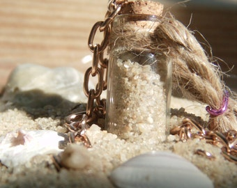 Sand-in-a-Bottle Charm Necklace