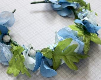 Take To The Sky Faerie Flower & Leaf Crown - Wreath - Tiara - Headband - Prom - Bridal - Wedding - Halloween