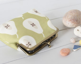 STUDIO SALE Olive Green Pear coin money purse