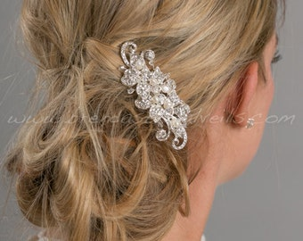 Bridal Hair Comb, Pearl and Rhinestone Wedding Comb, Wedding Hair Accessory - Mallory