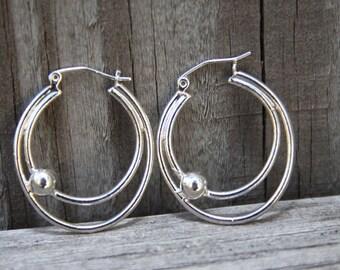 Hoop Earrings Sterling Silver SOLAR RINGS
