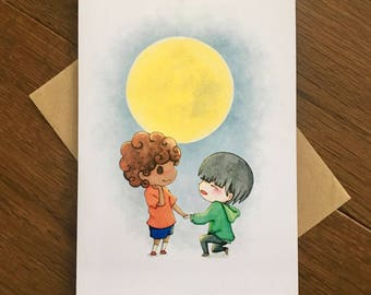 By the Light of the Moon - LGBT Valentine's Day Card